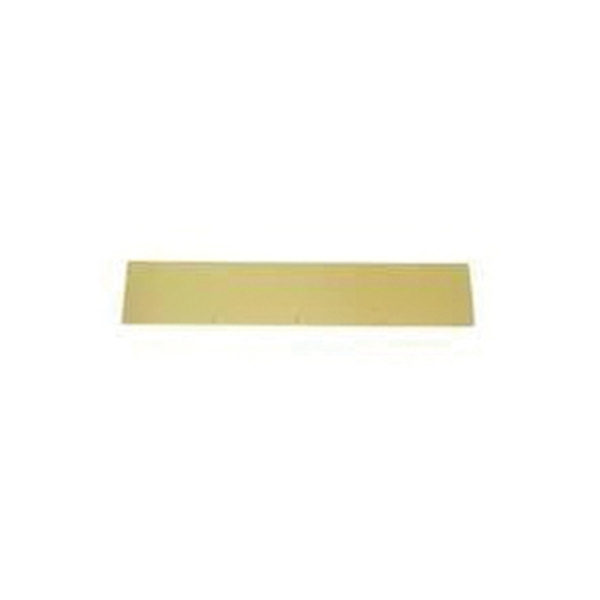 Picture of Schlage C8400PA3-6X34 Kick Plate, 34 in L, 6 in W, Aluminum, Brass
