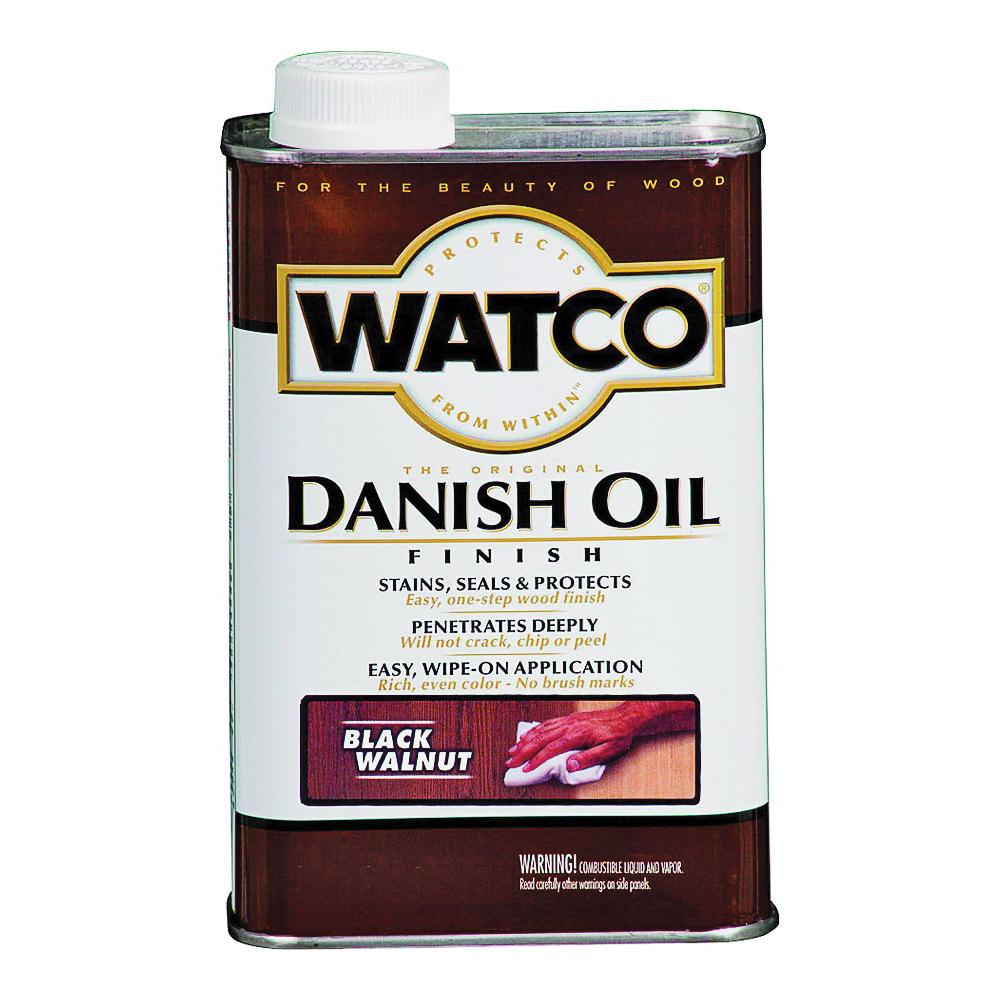 Picture of WATCO 65351 Danish Oil, Black/Walnut, Liquid, 1 pt, Can