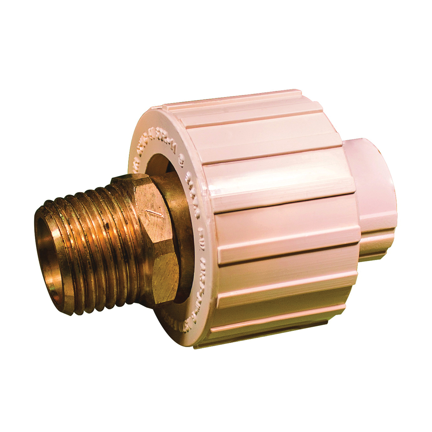 Picture of GENOVA 500 Series 53045Z Transition Union, 1/2 in, Slip Joint x MIP, 100 psi Pressure