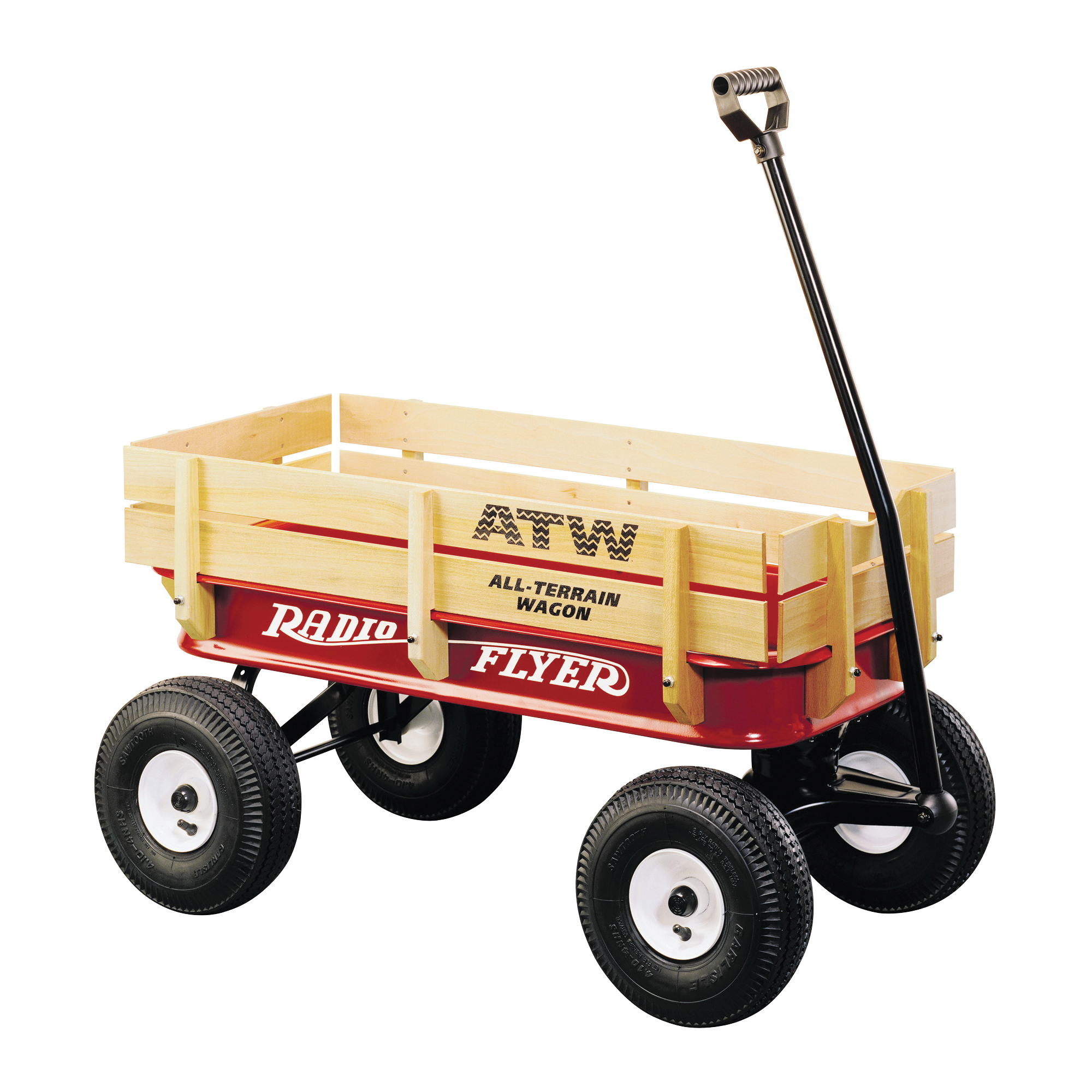 Picture of RADIO FLYER 32Z Terrain Wagon, 200 lb Capacity, Steel/Wood, Red, Pneumatic Wheel
