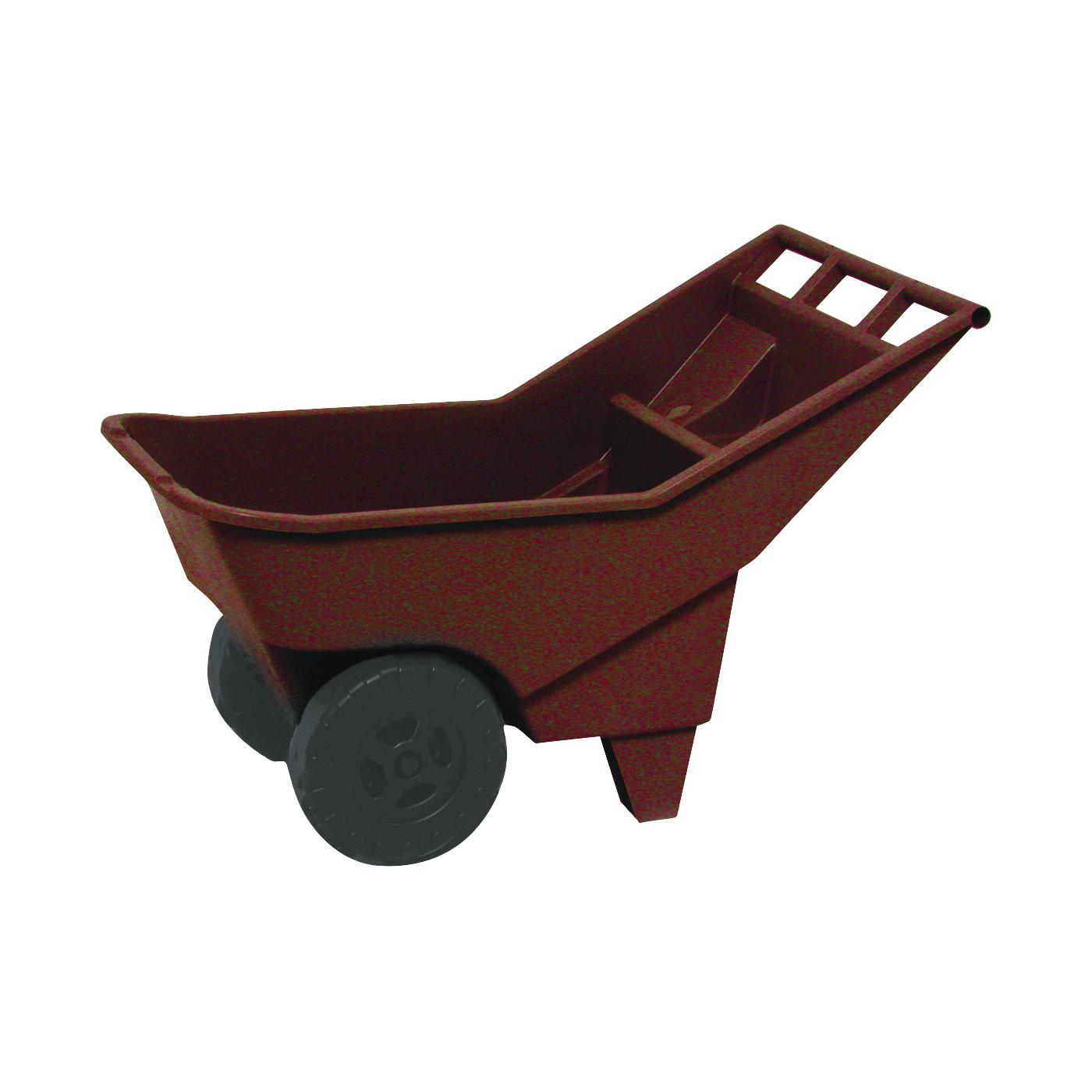Picture of Rubbermaid 370712907 Lawn Cart, 200 lb, Polyethylene Deck, 2 -Wheel, Gray