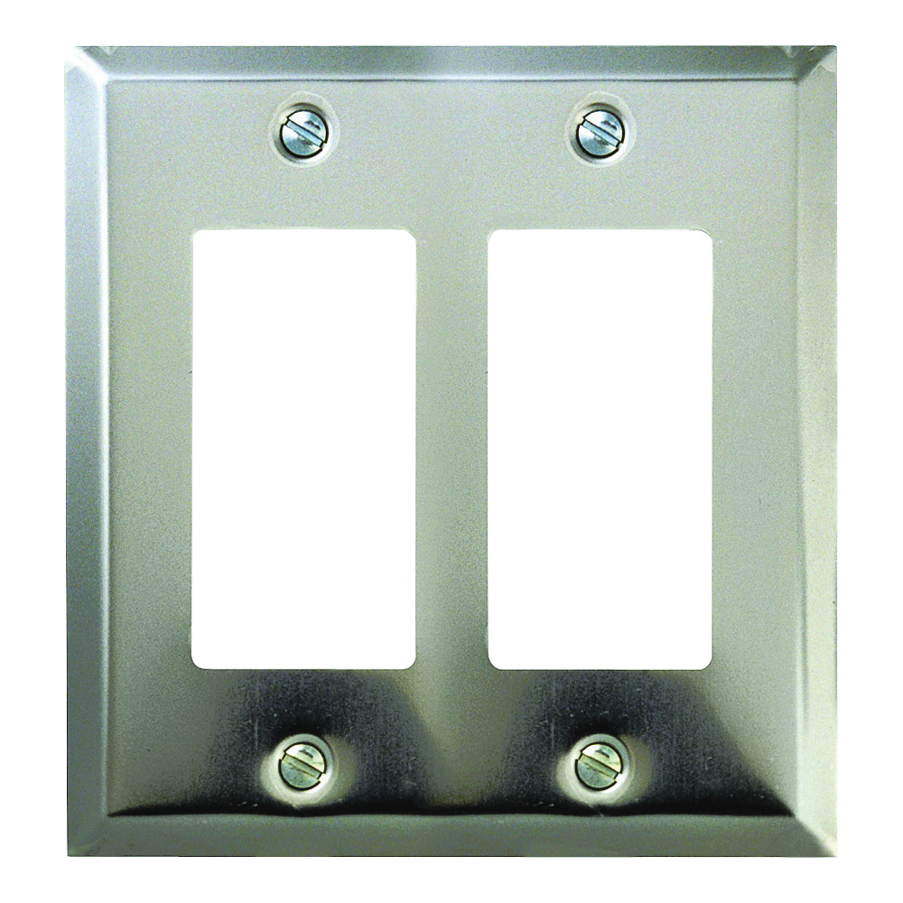 Picture of Amerelle 161RR Wallplate, 4-15/16 in L, 4-9/16 in W, 2-Gang, Steel, Polished Chrome
