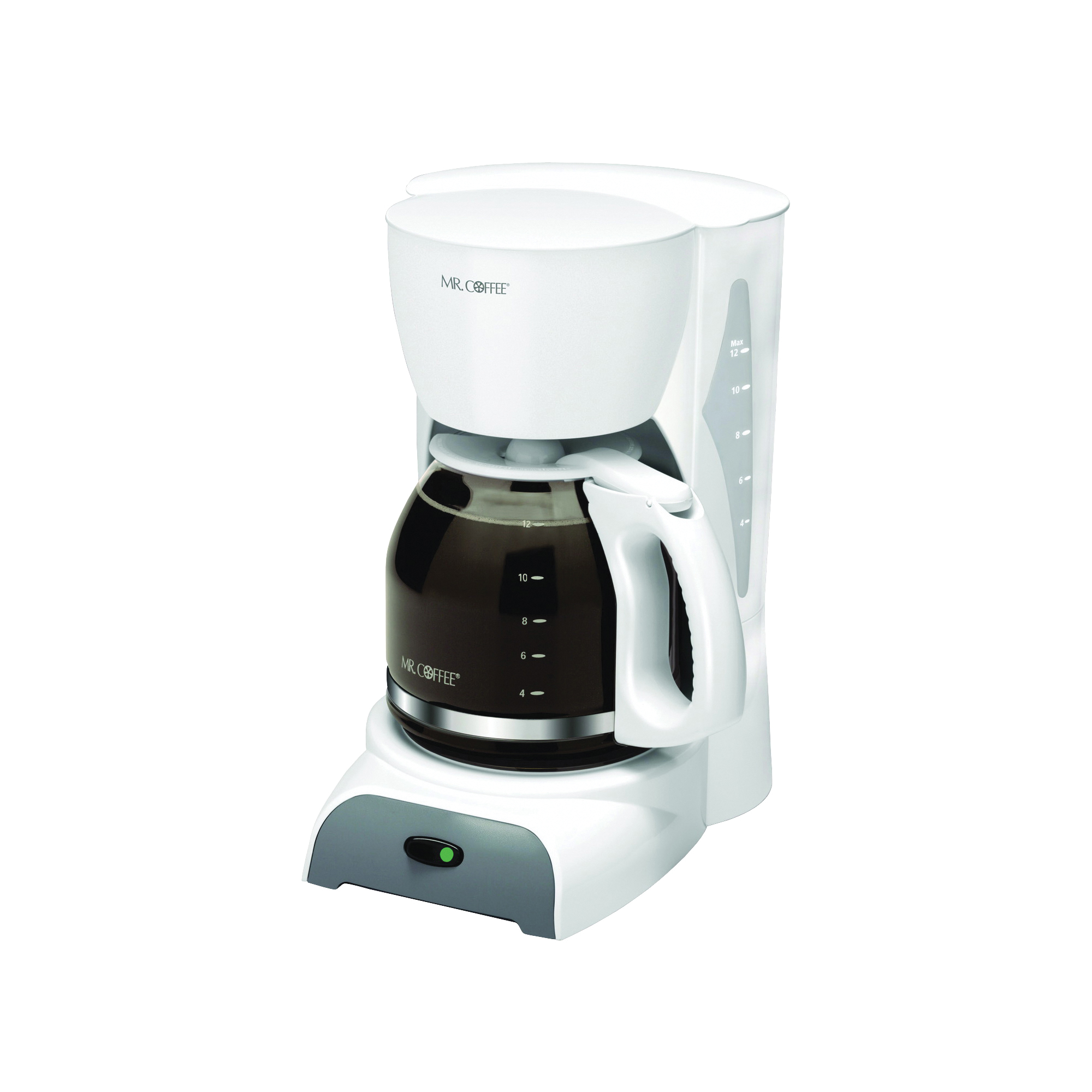 Picture of Mr. Coffee SK12-RB Coffee Maker, 12 Cups Capacity, 900 W, White