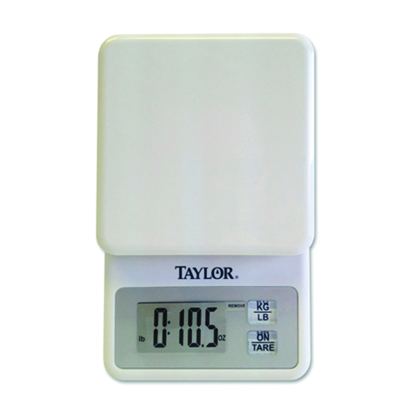 Picture of Taylor 3817 Kitchen Scale, 11 lb Capacity, LCD Display, White, g, lb, oz