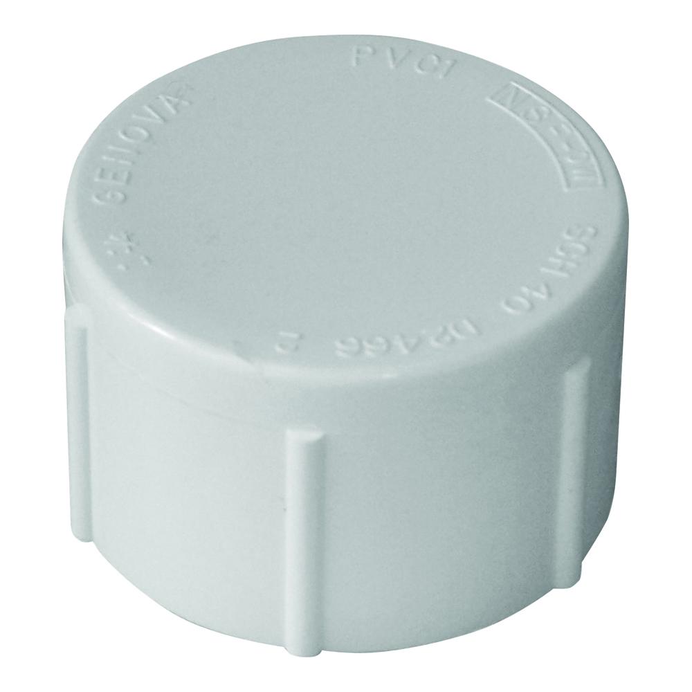 Picture of GENOVA 300 Series 30165 Pipe Cap, 1/2 in, FIP, White, SCH 40 Schedule