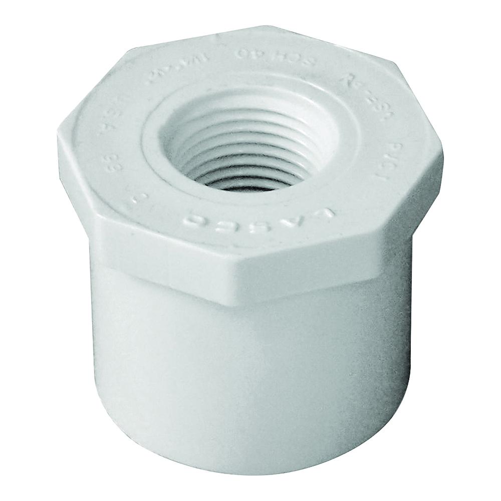Picture of GENOVA 300 Series 34245 Pipe Reducing Bushing, 1-1/4 x 1/2 in, Spigot x FIP, White, SCH 40 Schedule