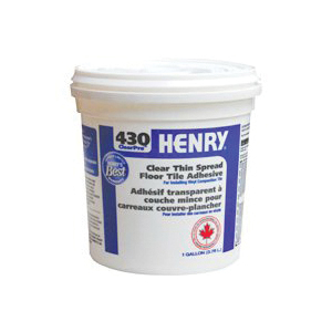 Picture of HENRY 430 ClearPro 12337 Floor Adhesive, Paste, Mild, Clear, 3.78 L Package, Pail