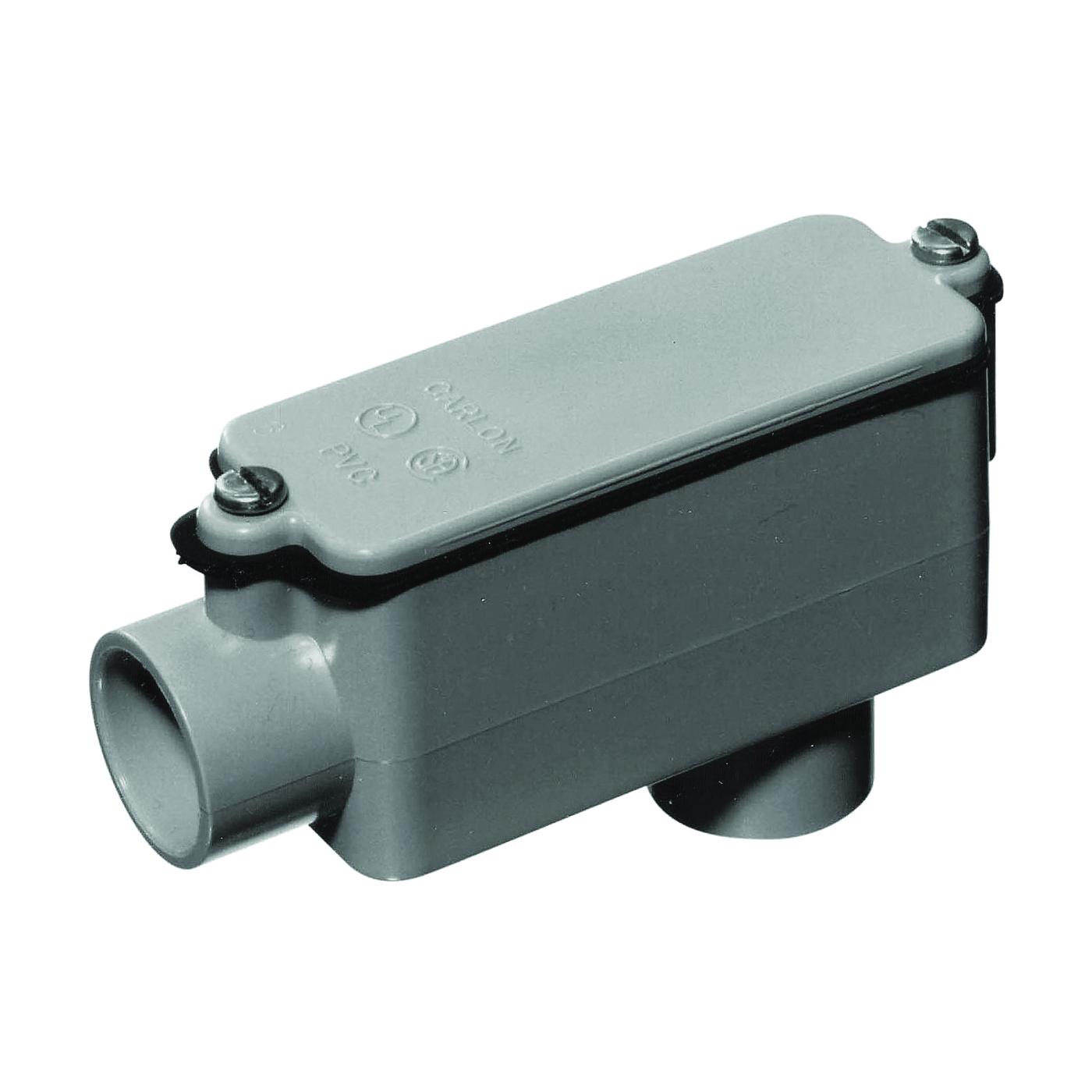 Picture of Carlon E986GR Conduit Body, PVC, Gray