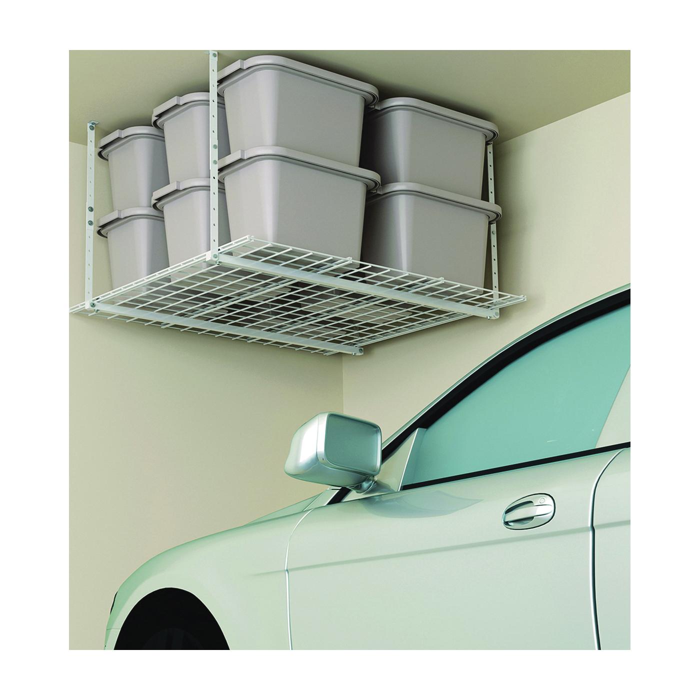 Picture of HyLoft 00540 Ceiling Storage Unit, 250 lb, Steel, White