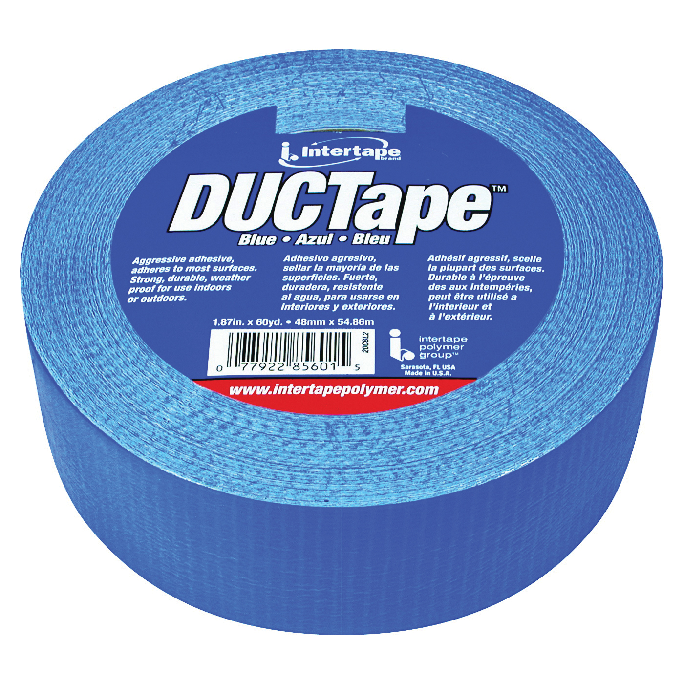 Picture of IPG 20C-BL2 Duct Tape, 60 yd L, 1.88 in W, Polyethylene-Coated Cloth Backing, Blue