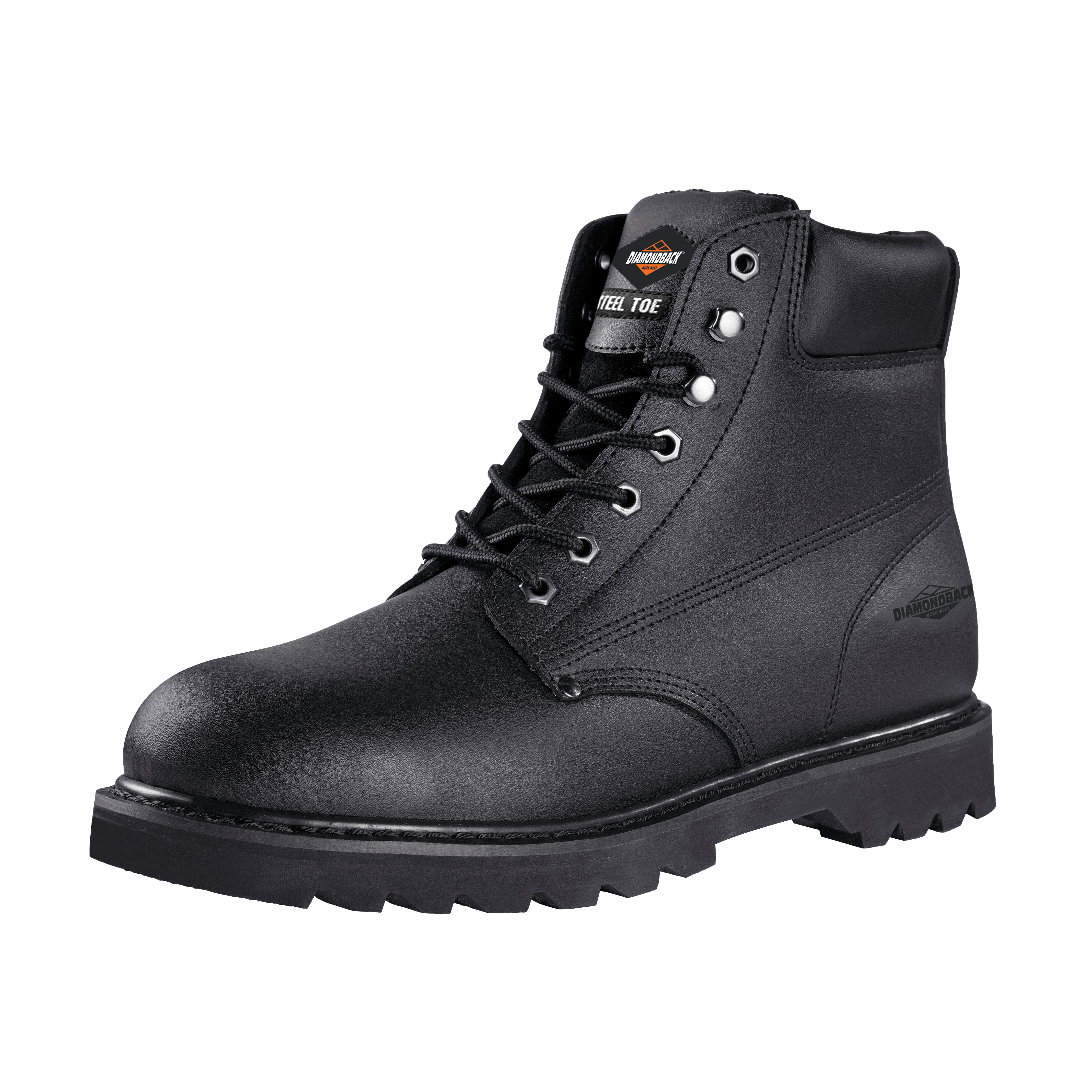 Picture of Diamondback 655SS-10.5 Work Boots, 10.5, Black, Leather Upper