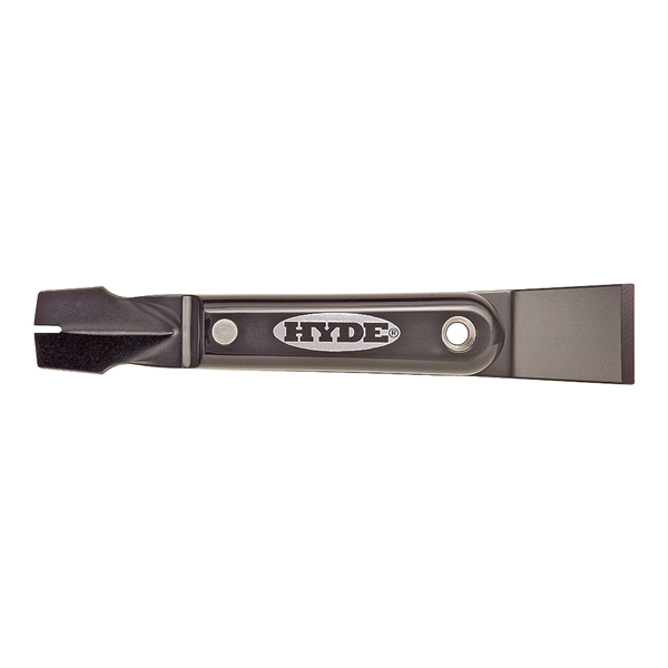 Picture of HYDE Black & Silver 02950 Glazing Tool, Slotted V-Shape Blade, HCS, Satin