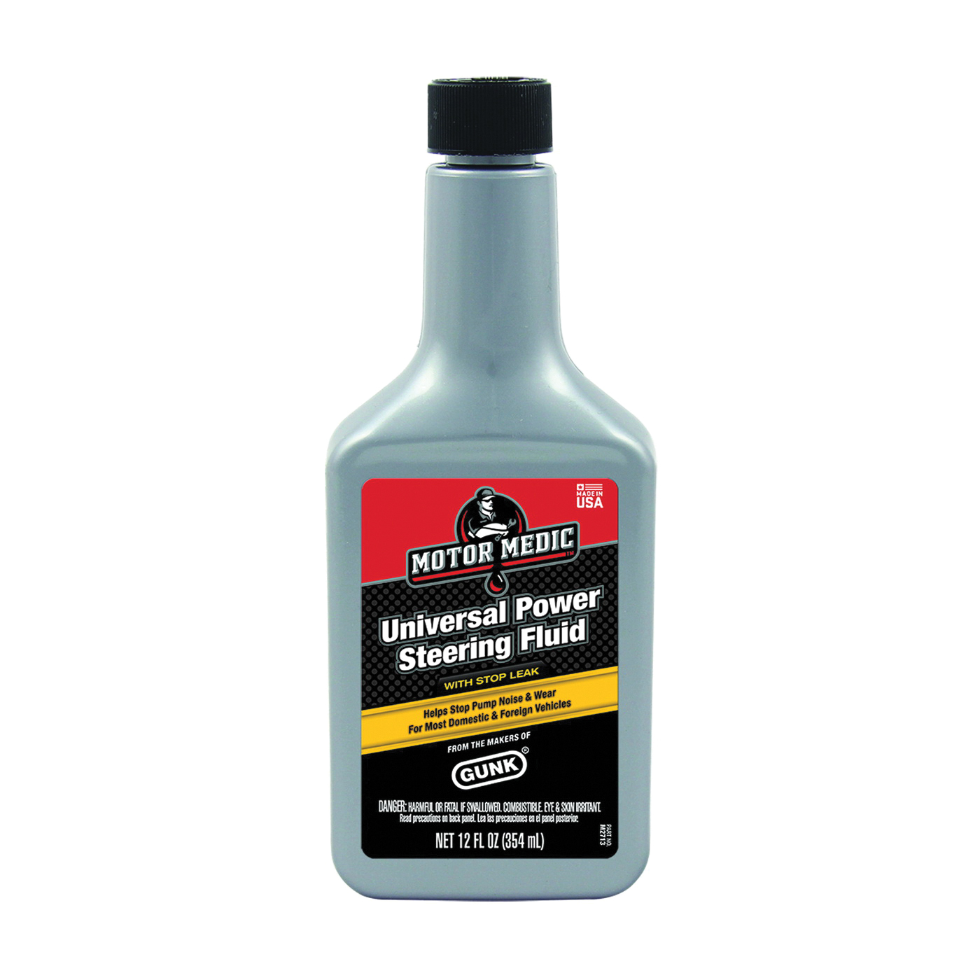 Picture of RSC M2713 Power Steering Fluid with Stop Leak Yellow, 12 oz Package, Bottle