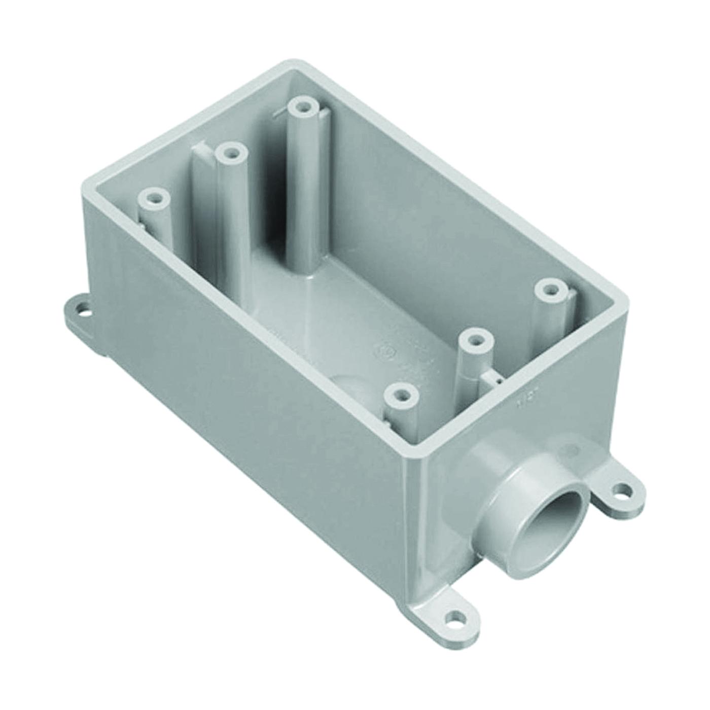 Picture of Carlon E980DFN-CTN Switch Box, 1-Gang, 1-Outlet, PVC, Gray