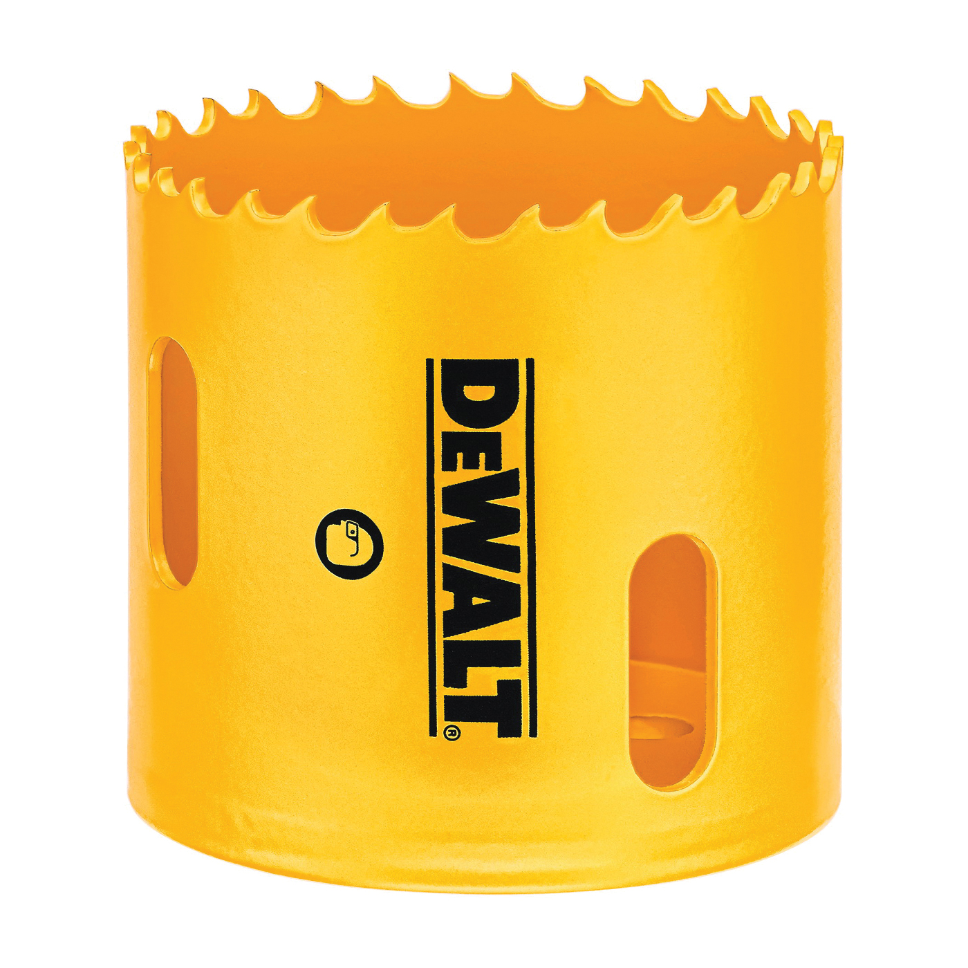 Picture of DeWALT D180034 Hole Saw, 2-1/8 in Dia, 1-13/16 in D Cutting, 5/8-18 Arbor, 4/5 TPI, HSS Cutting Edge