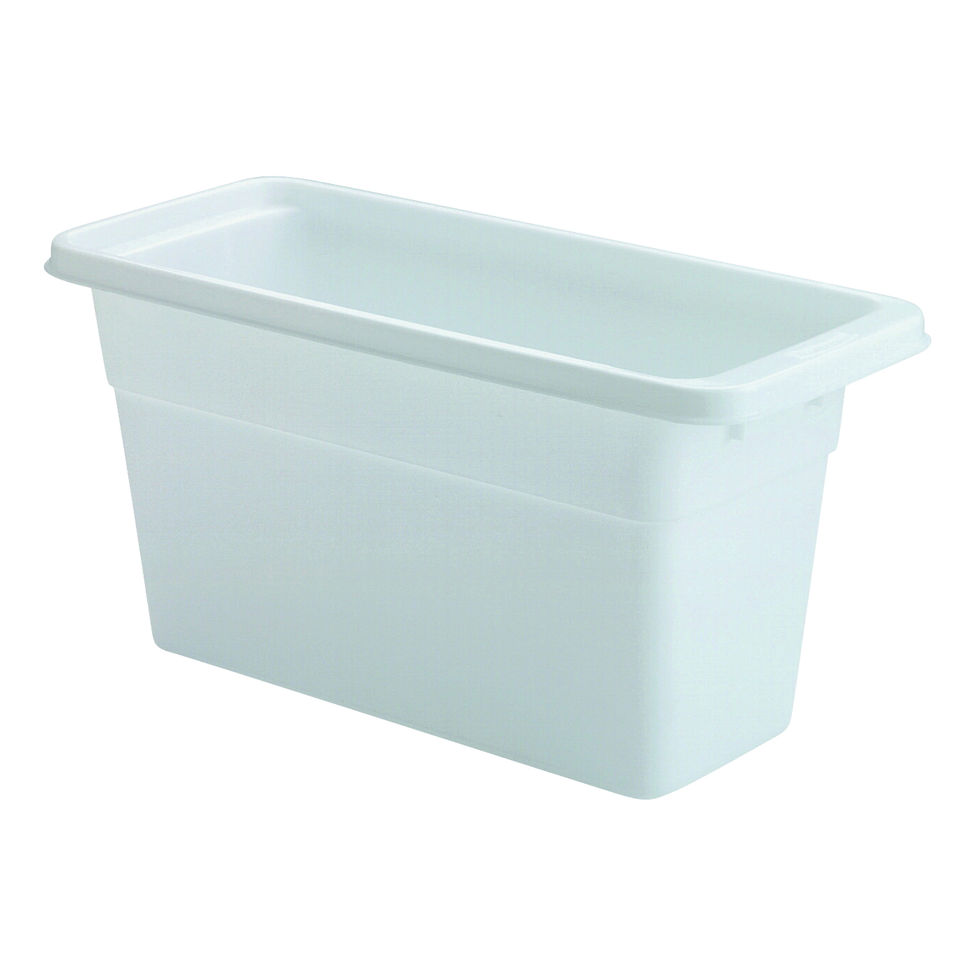 Picture of Rubbermaid 2862RDWHT Ice Cube Bin, 6-1/8 in L, 5-1/4 in W, 12-3/4 in H, Plastic, White, Dishwasher Safe: Yes