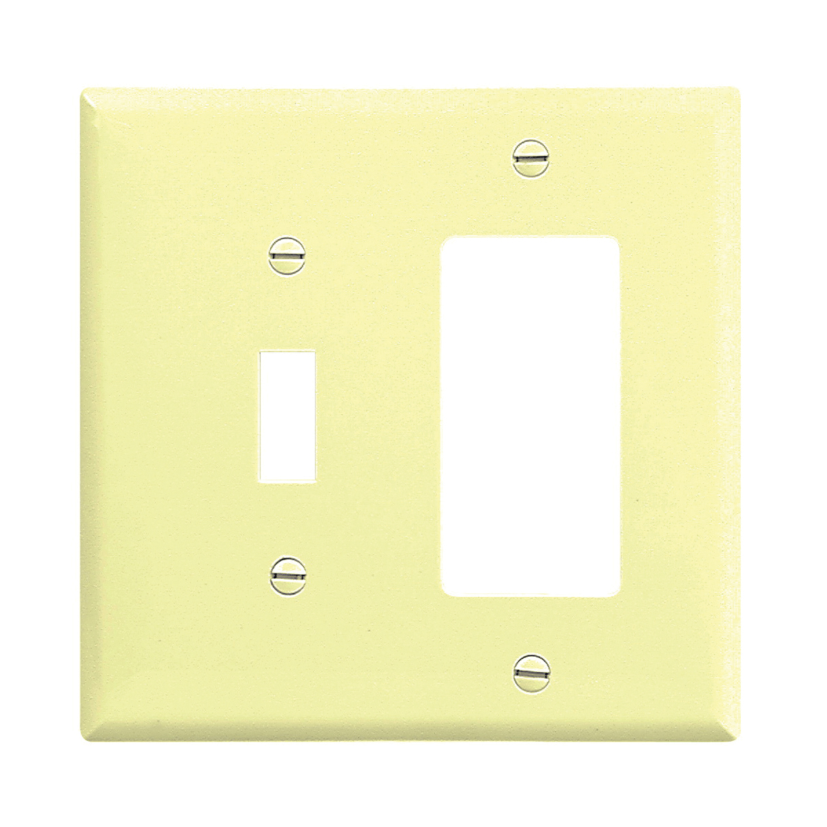 Picture of Eaton Wiring Devices 2153V-BOX Wallplate, 4-1/2 in L, 4-9/16 in W, 2-Gang, Thermoset, Ivory, High-Gloss