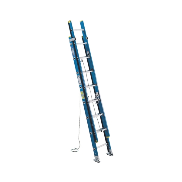 Picture of WERNER D6024-2 Extension Ladder, 23 ft H Reach, 250 lb, Fiberglass