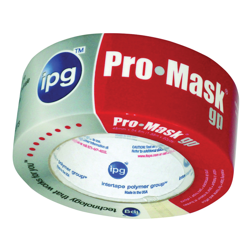 Picture of IPG 5103-2 Masking Tape, 60 yd L, 1.87 in W, Smooth Crepe Paper Backing, Beige