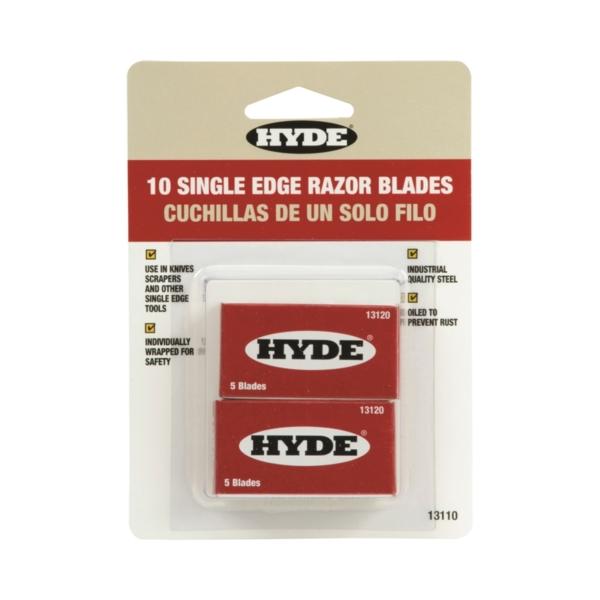 Picture of HYDE 13110 Razor Blade, Single-Edge Blade, Steel Blade