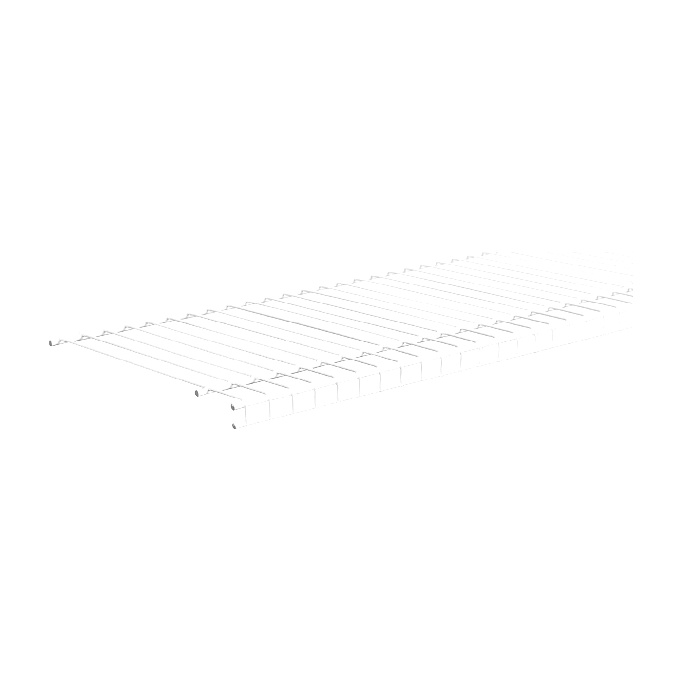 Picture of ClosetMaid SuperSlide 4719 Wire Shelf, 120 lb, 1-Level, 12 in L, 144 in W, Steel, White