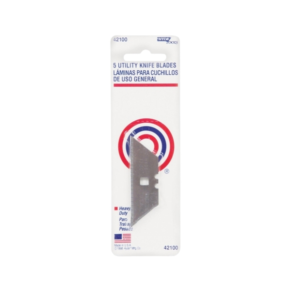 Picture of HYDE 42100 Utility Knife Blade, 5/PK, Box