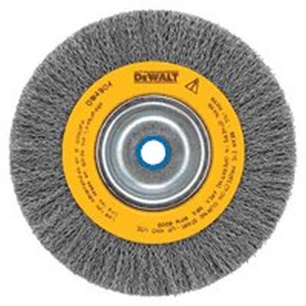 Picture of DeWALT DW4905 Wire Wheel Brush, 6 in Dia, 5/8 to 1/2 in Arbor/Shank, 0.014 in Dia Bristle