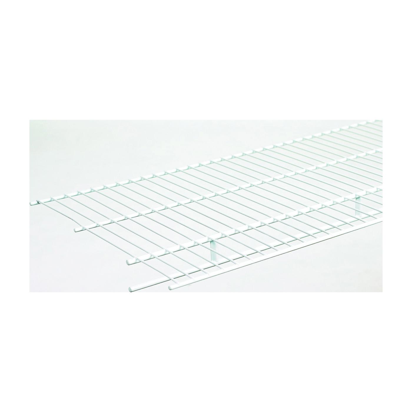 Picture of ClosetMaid 1361 Wire Shelf, 60 lb, 1-Level, 12 in L, 72 in W, Steel, White
