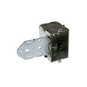 Picture of RACO 522 Switch Box, 1-Gang, 1-Outlet, 3-Knockout, 1/2 in Knockout, Steel, Gray, Galvanized