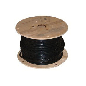 Picture of Southwire 1/0BK-STRX500 Building Wire, 1/0 AWG Wire, 1-Conductor, Copper Conductor, PVC Insulation, Nylon Sheath