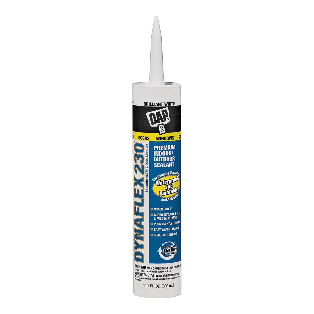 Picture of DAP 18275 Premium Sealant, White, 1 day Curing, 40 to 100 deg F, 10.1 oz Package, Cartridge
