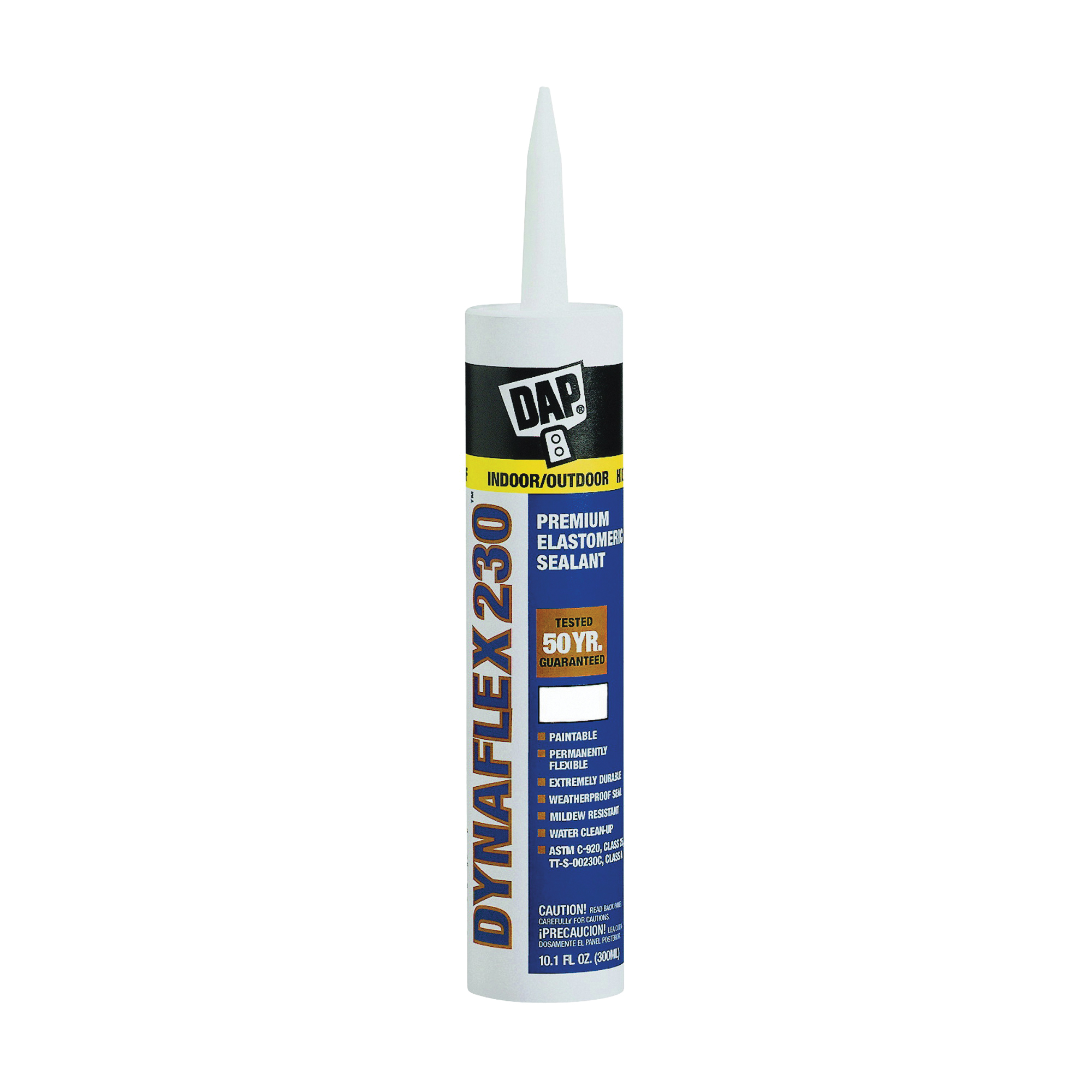 Picture of DAP 18286 Premium Sealant, Gray, 1 day Curing, 40 to 100 deg F, 10.1 oz Package, Cartridge