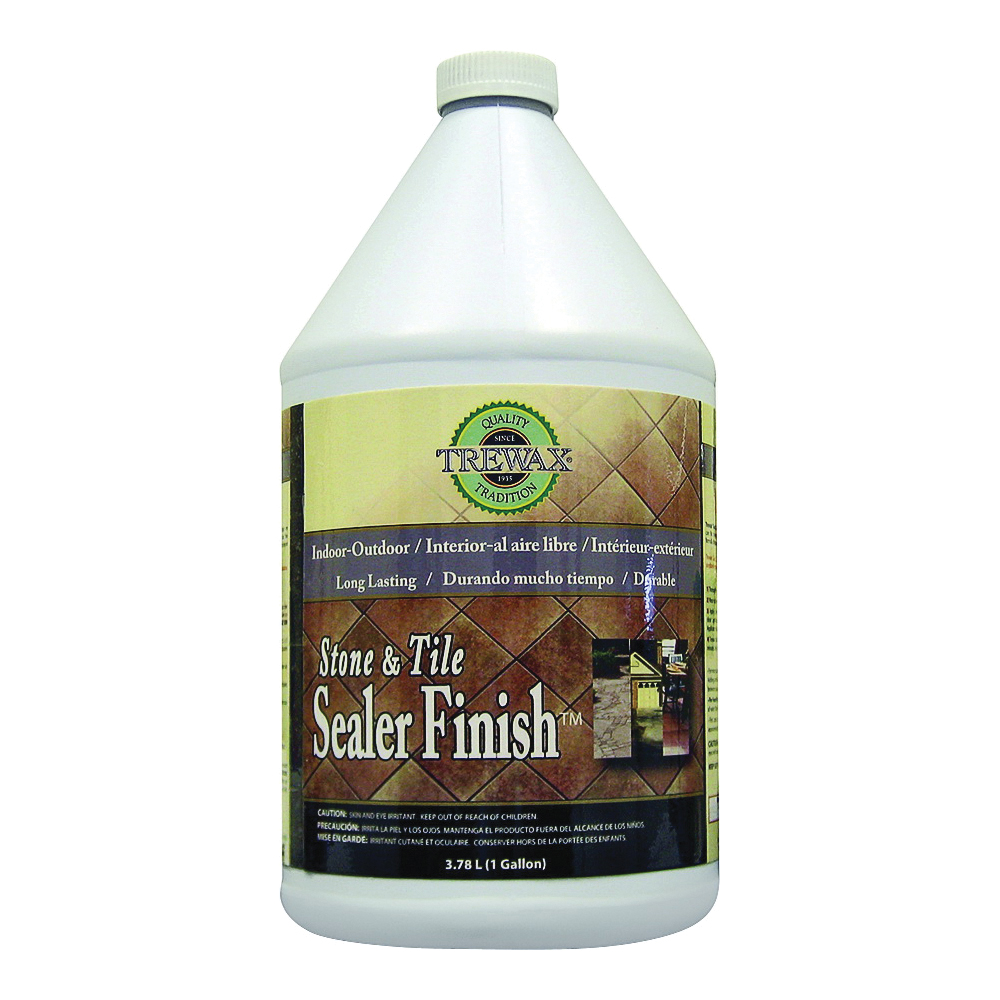 Picture of Trewax 887171970 Stone and Tile Floor Sealer, 1 gal Package, Liquid, Low, Clear