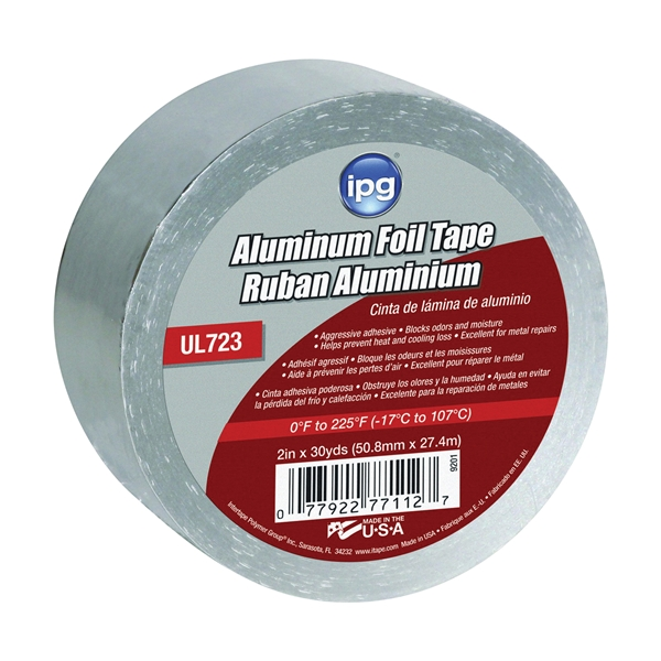 Picture of IPG 9201 Foil Tape, 30 yd L, 2 in W, Aluminum Backing