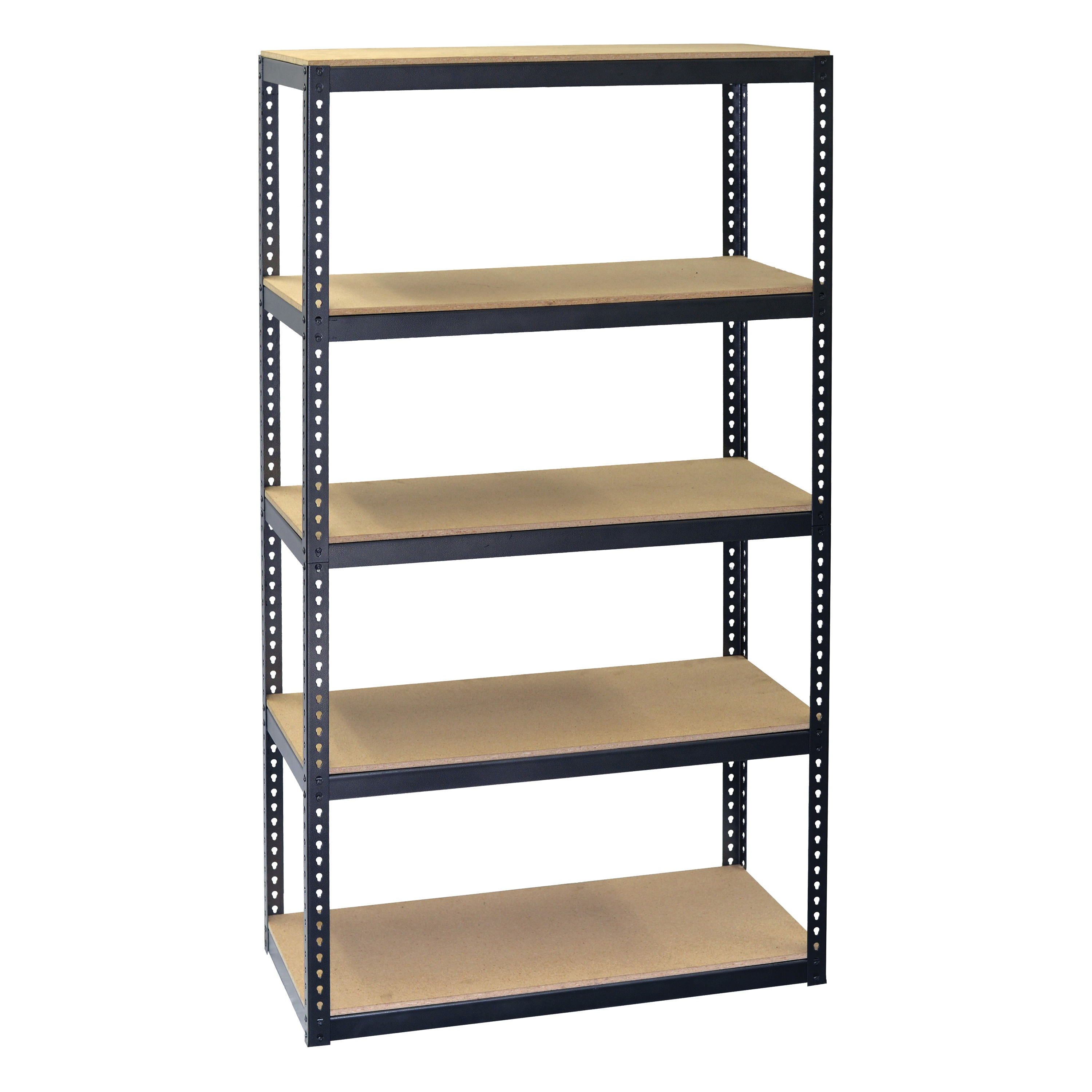 Picture of Storage Concepts SCB0750D Boltless Shelving Unit, 2250 lb Capacity, 5-Shelf, 30 in OAW, 15 in OAD, 60 in OAH