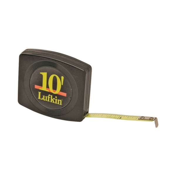 Picture of Crescent Lufkin Pee Wee W6110 Pocket Tape Measure, 10 ft L Blade, 1/4 in W Blade, Steel Blade, Black Case
