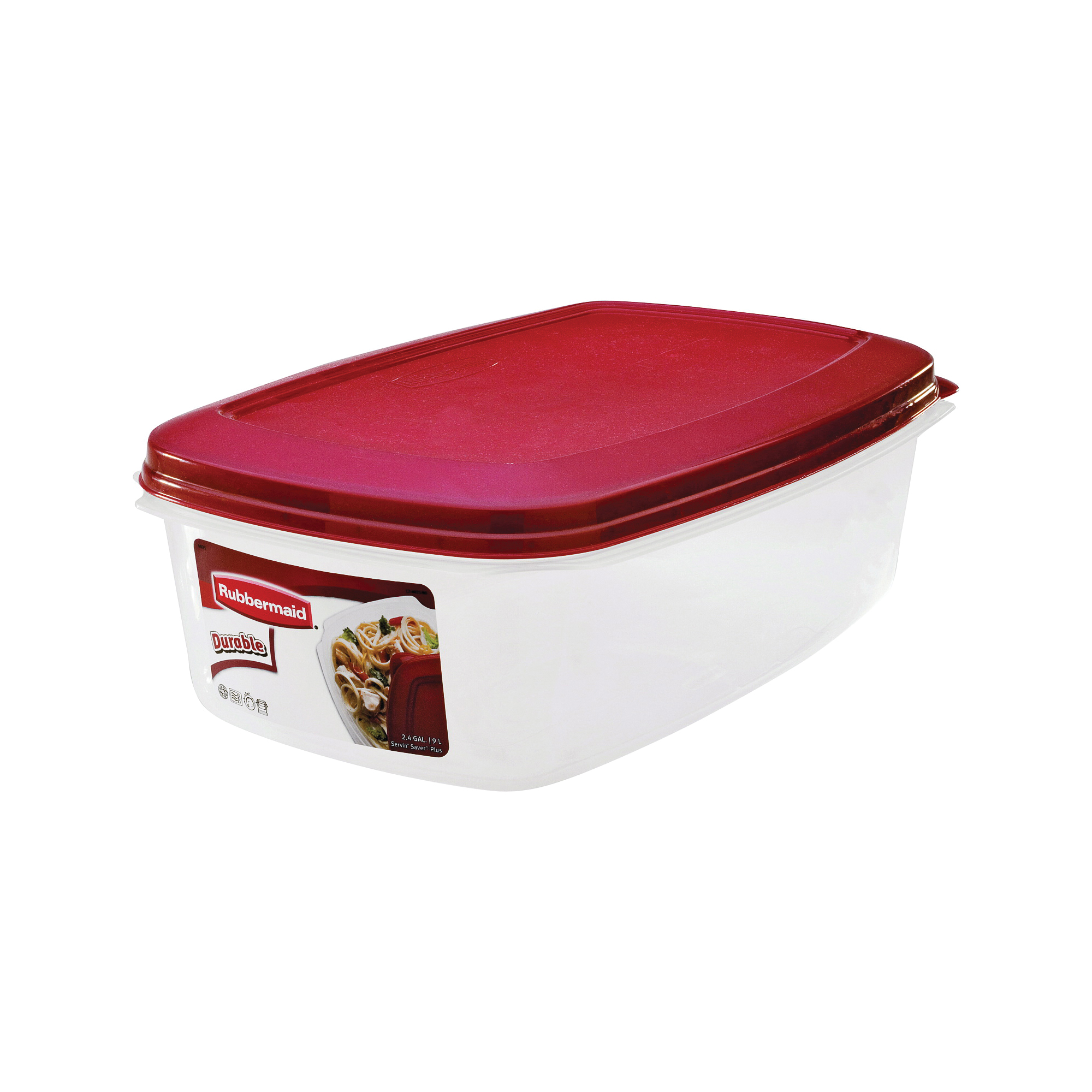 Picture of Rubbermaid 1777164 Food Storage Container, 2.4 gal Capacity, Plastic, Clear