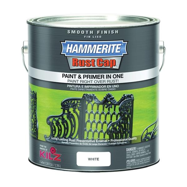 Picture of Kilz Hammerite RUST CAP 46260 Enamel Finish, High-Gloss, White, 1 gal, Can