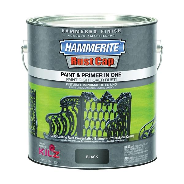 Picture of Kilz Hammerite RUST CAP 45140 Enamel Finish, Hammered, Black, 1 gal, Can