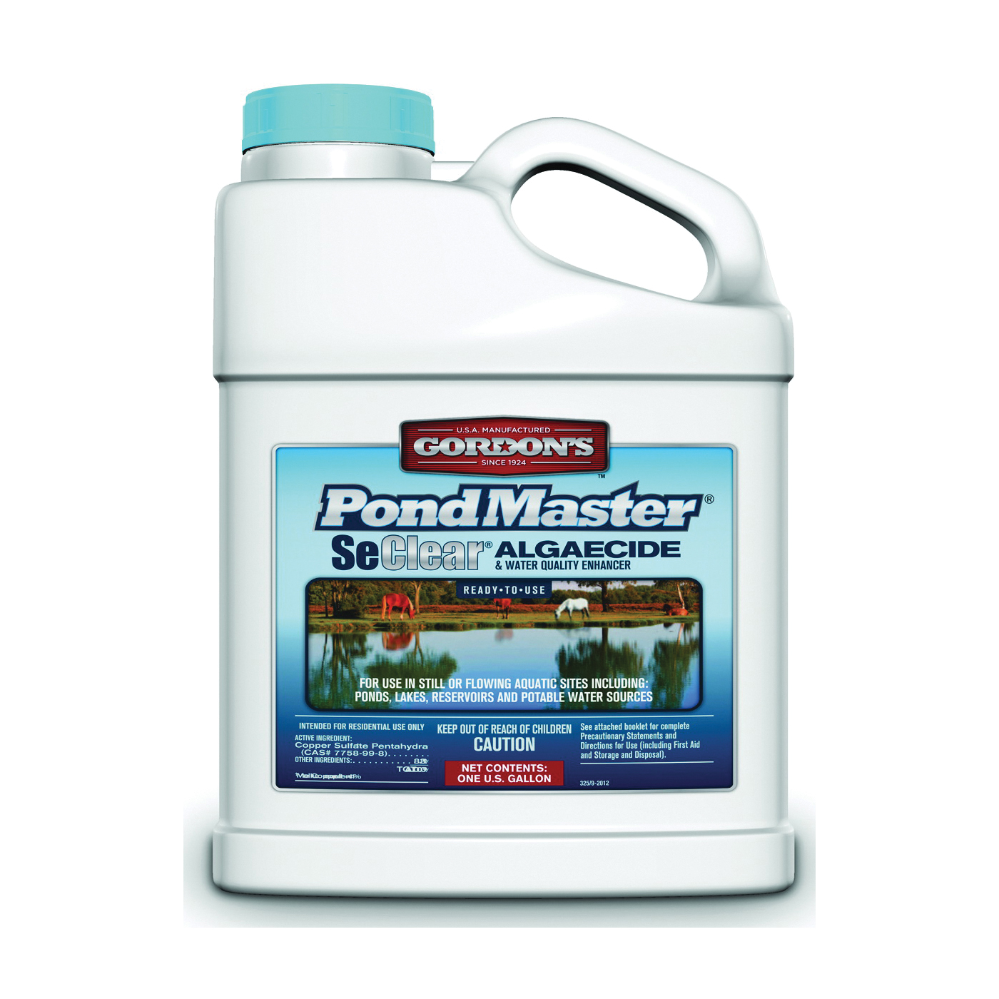 Picture of Gordon's PondMaster 3251072 Algaecide, Liquid, Light Blue, 1 gal Package