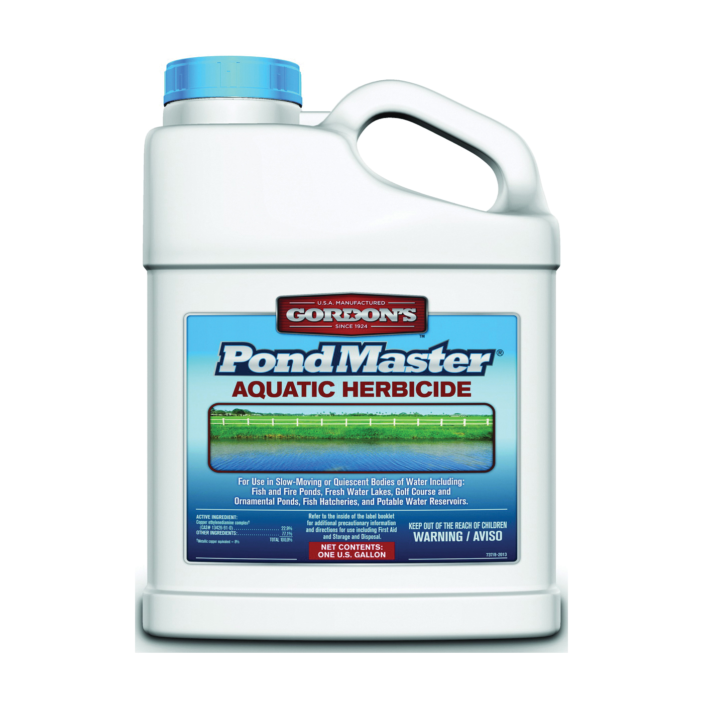 Picture of Gordon's PondMaster 7371073 Aquatic Herbicide, Liquid, Dark Violet, 1 gal Package