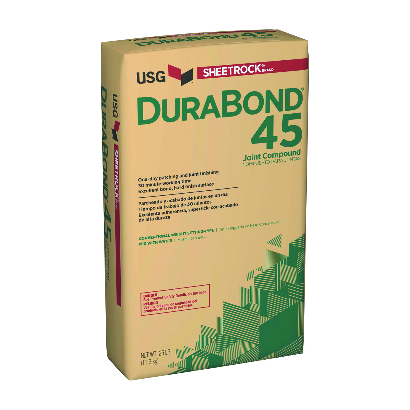 Picture of USG Durabond 381110120 Joint Compound, Powder, White, 25 lb Package, Bag