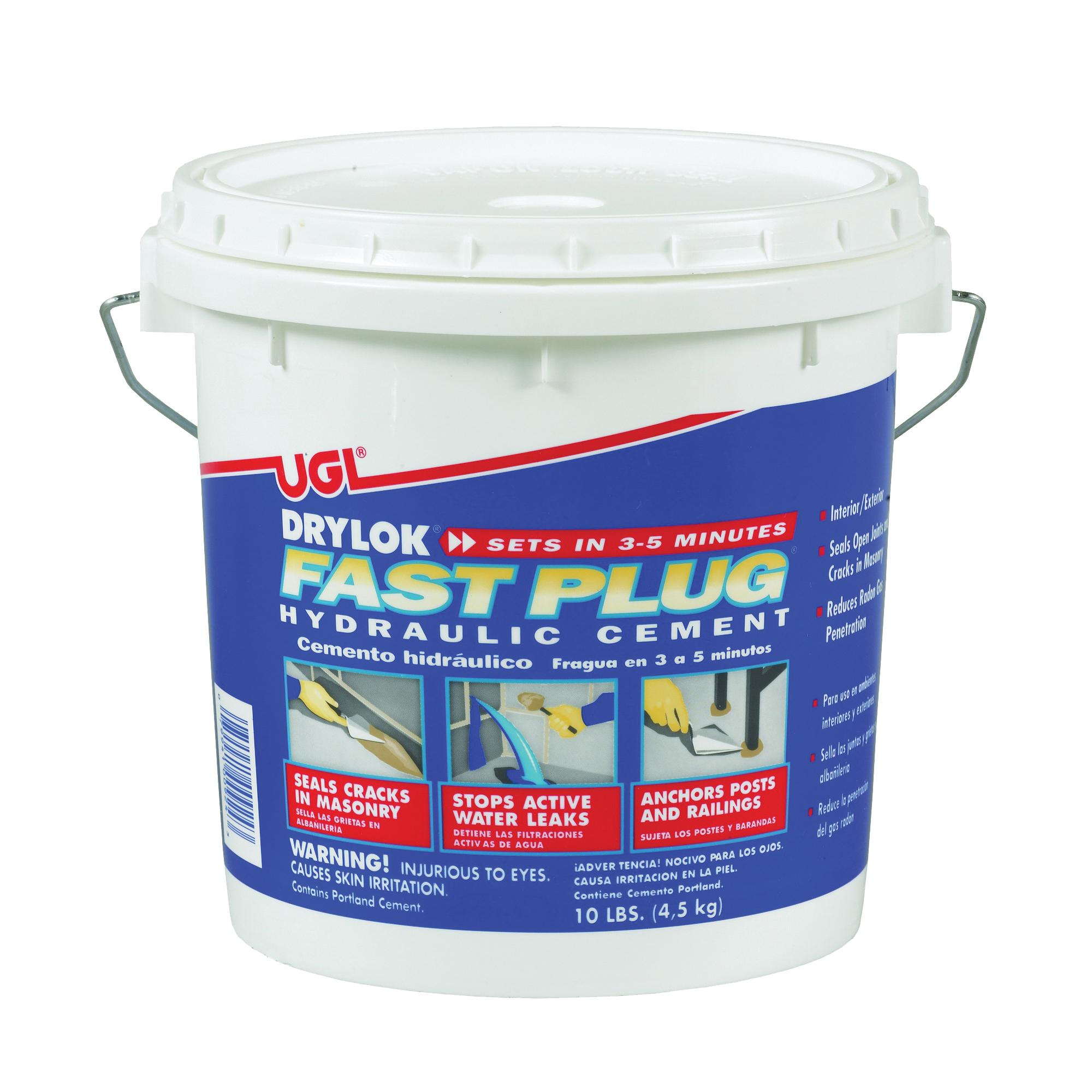 Picture of UGL DRYLOK Fast Plug 00924 Hydraulic Cement, Gray, Powder, 10 lb Package
