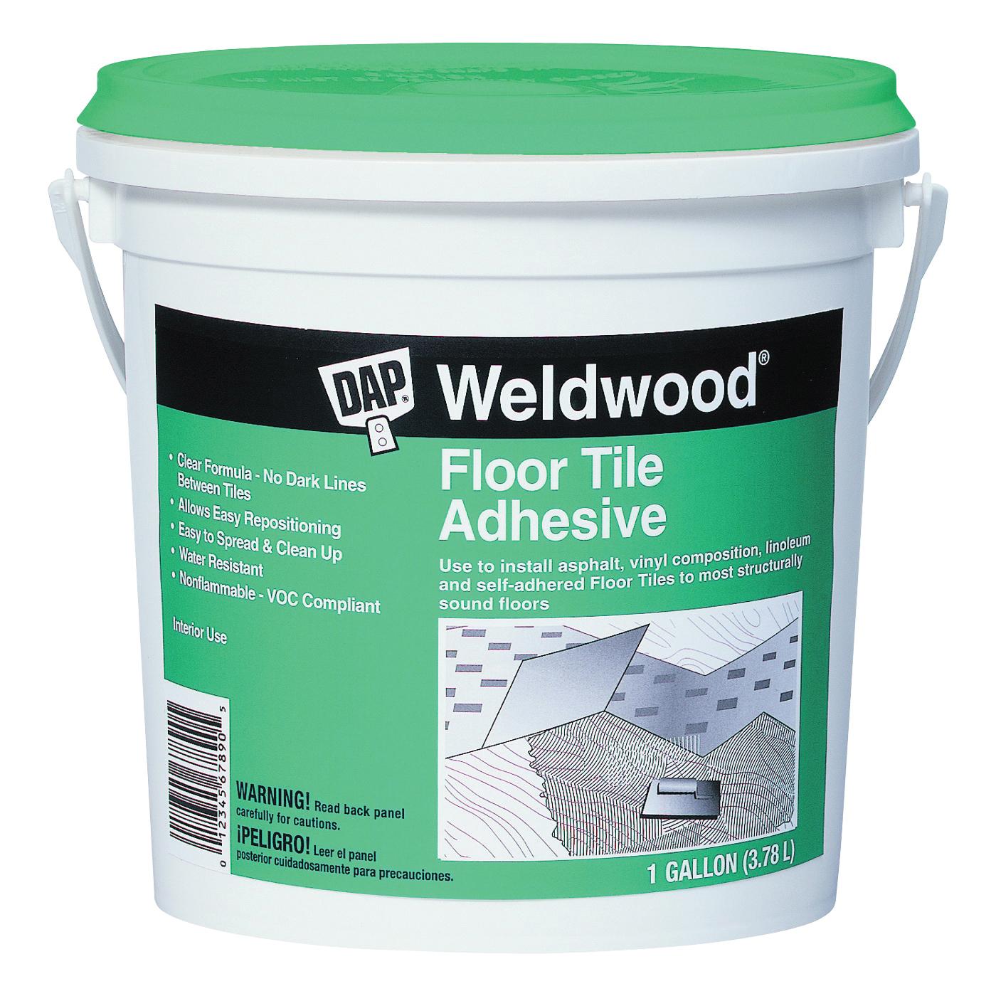 Picture of DAP Weldwood 00137 Floor Tile Adhesive, Paste, Slight, Clear, 1 gal Package, Pail
