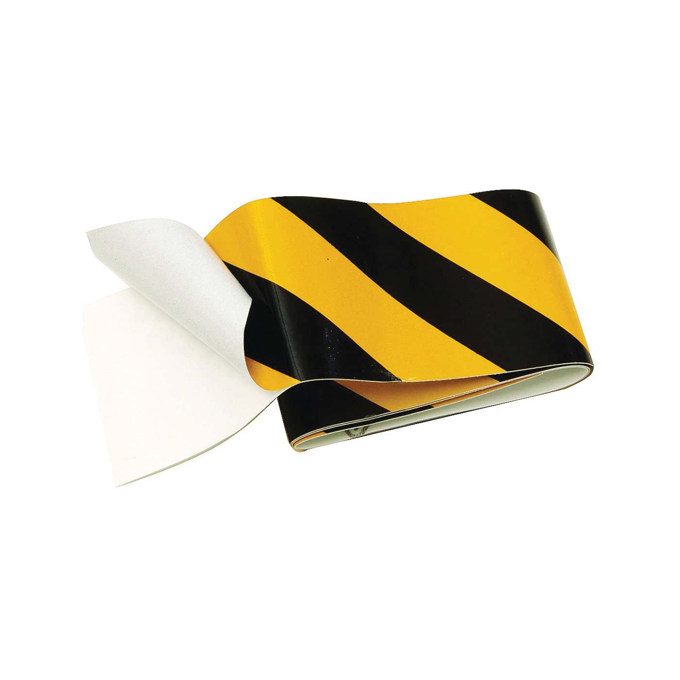 Picture of HY-KO TAPE-1 Reflective Safety Tape, 24 in L, 2 in W, Vinyl Backing, Black/Yellow