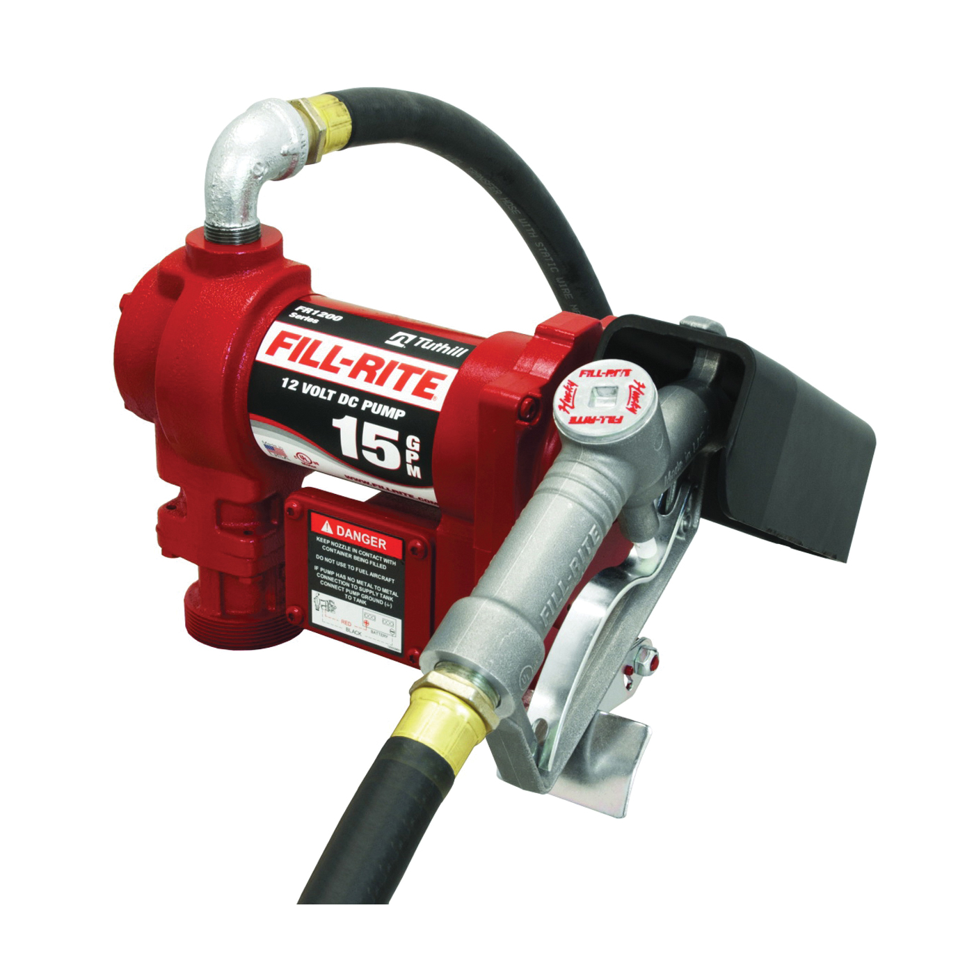 Picture of Fill-Rite FR1210G/FR1210C Fuel Transfer Pump, Motor: 1/4 hp, 12 VDC, 20 A, 30 min Duty Cycle, 3/4 in Outlet, 15 gpm