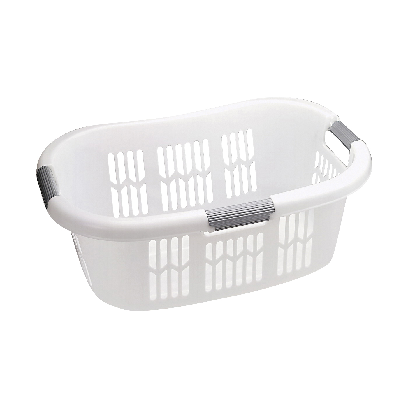 Picture of Rubbermaid Hip-Hugger FG299787WHT Laundry Basket, 1.5 bu Capacity, Plastic, White, 1-Compartment