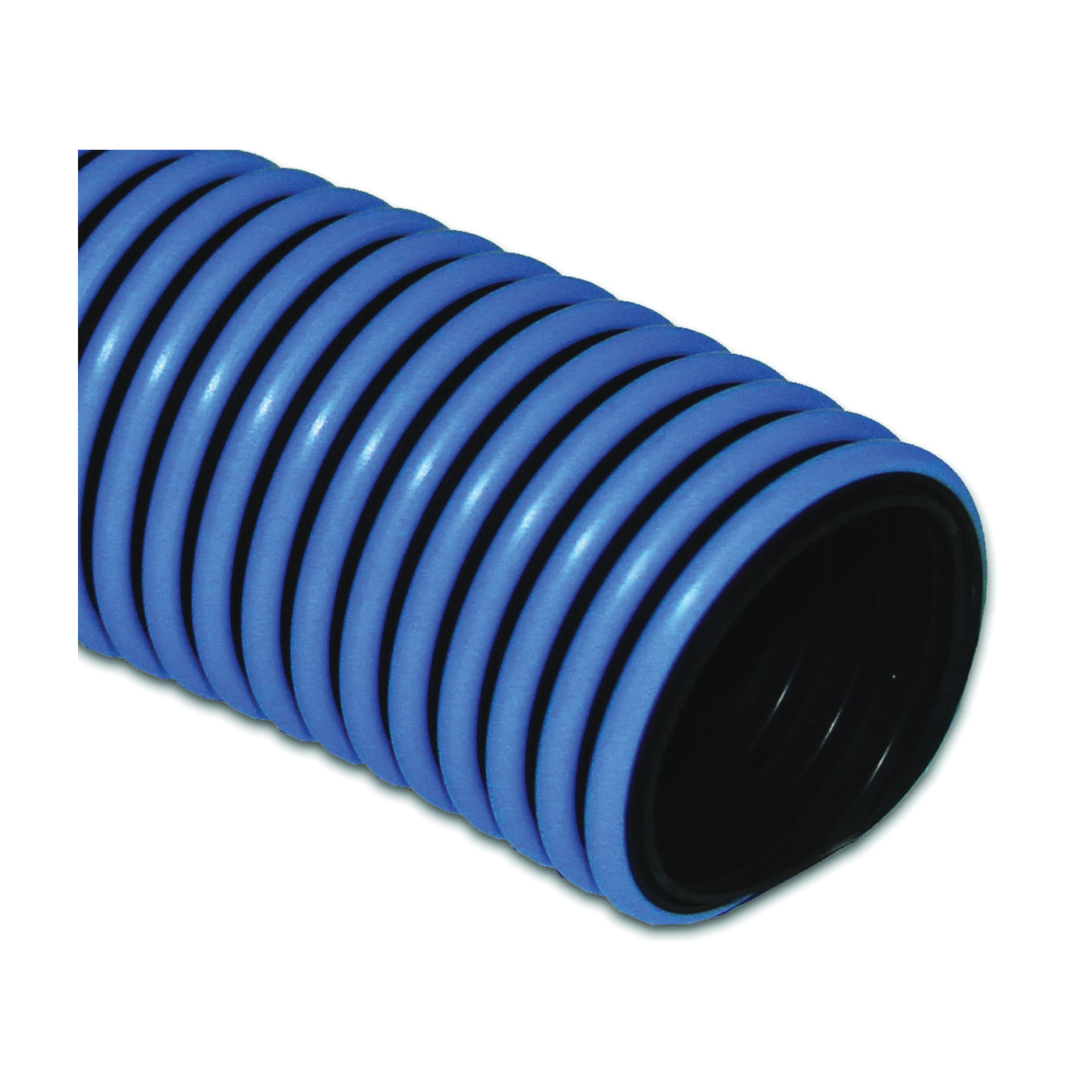 Picture of UDP T32005001/RPSP Pool Vacuum Hose, 1-1/4 in ID, 50 ft L, Polyethylene, Black/Blue