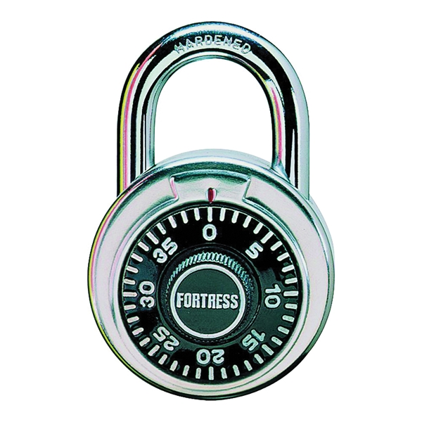 Picture of Master Lock 1850D Combination Padlock, 5/16 in Dia Shackle, 3/4 in H Shackle, Steel Shackle, Stainless Steel Body
