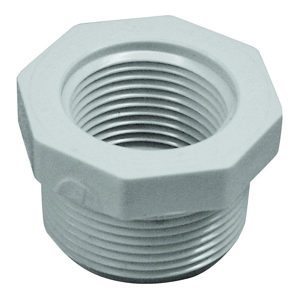 Picture of GENOVA 300 Series 34340 Pipe Reducing Bushing, 1-1/4 x 1 in, MIP x FIP, White, SCH 40 Schedule